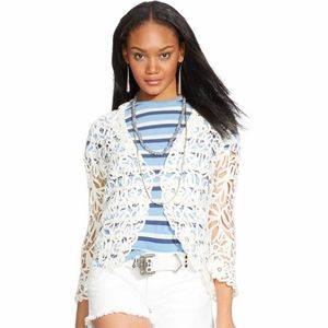 Polo Ralph Lauren Embroidered Lace Jacket  sz larg